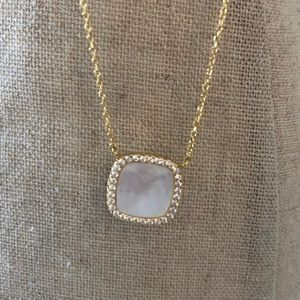 Gold with Pearlized Center Necklace